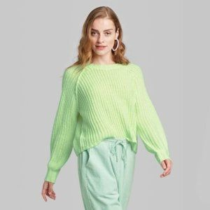 Wild Fable Chunky Oversized Green Knit Sweater